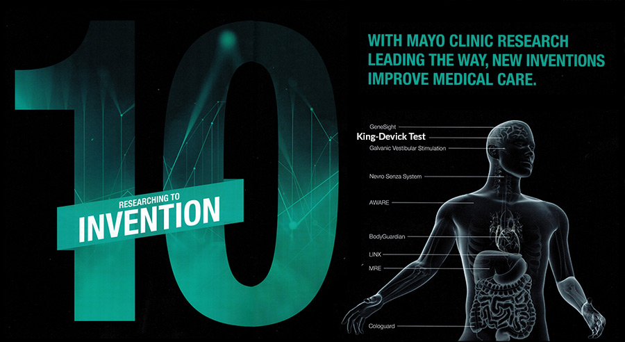 King-Devick Test Named in Mayo Clinic's Top 10 Exciting Contributions to Health Care