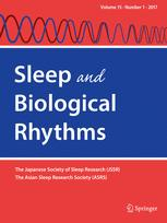 Sleep and Biological Rhythms. 2016; 15(1): 1-7